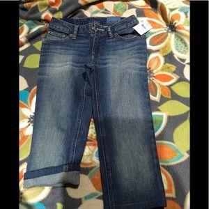 Girls new crop jeans by ralph lauren size 8